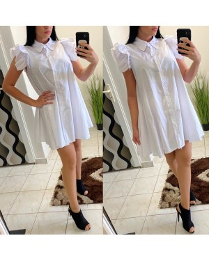 Bielé košelové šaty