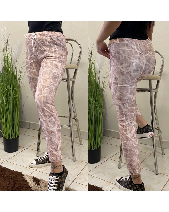 Elastické dámske nohavice